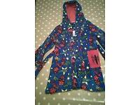 Boys 5-6 year old spiderman dressing gown barely used from tu at sainsburys
