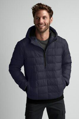 $550 CANADA GOOSE Men's Wilmington Hooded Pullover Down Jacket L Navy NWOT