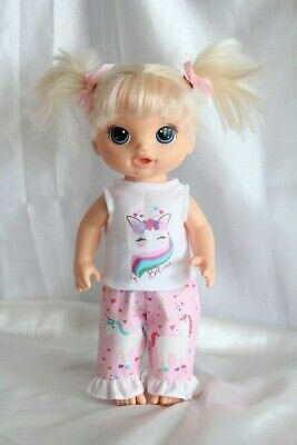 Dress Outfit fits 12 inch Baby Alive Doll Clothes Lot Unicorn Hearts