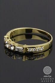 Solid 18k Gold 0.40 Ct Natural Diamond Wedding Band Half Eternity £900