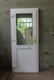 UPVC WHITE DOUBLE GLAZED DOOR 840mm x 2030mm/with sill 2060mm/.