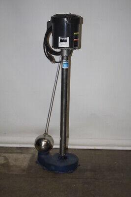 New Dayton 3XU83A Pedestal Sump Pump Emerson 1/2 HP Motor S063NX-JNS 1/2 Hp Pedestal Sump Pump