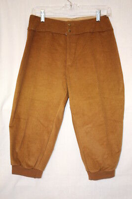Vintage MOTHERLODE Brown Corduroy Knicker Style Pants Womens Size 14-B113