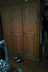 Triple pine wardrobe