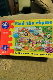 Find the rhyme floor puzzle compleat no missing pieces