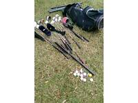 Golf Clubs with Bag, tees, balls etc