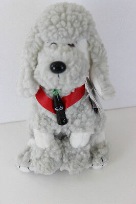 Bean Bag Coca Cola French Poodle Dog STRUDEL # 0214 France Plush Collectible 6
