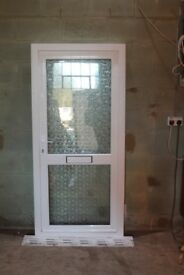 UPVC WHITE DOUBLE GLAZED DOOR 925mm X 1950mm/with sill 1980mm/