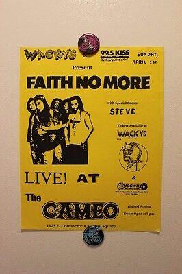FAITH NO MORE San Antonio TEXAS (1990) Vintage concert flyer poster mr bungle