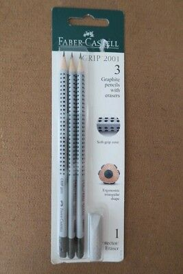 Faber - Castell 3 Pencils And 1 Protectoreraser