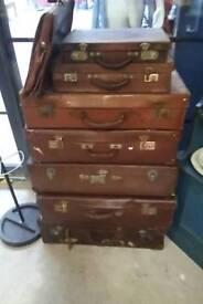 Vintage midcentury suit cases
