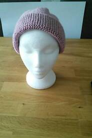 Hand knitted hats for girls/ladies
