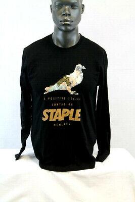 Staple Pigeon L/S PIGEON JEWEL LOGO T-SHIRT BLACK/MULTICOLOR 1810C5119