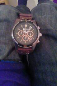 Fossil watch CH2891 genuine leather strap