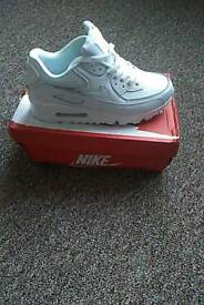 Womens new genuine leather nike air max 90 trainers