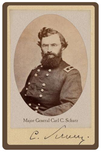 MAJ GEN CARL C. SCHURZ CIVIL WAR UNION VINTAGE RP Cabinet Card PHOTOGRAPH
