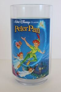Collector-Walt-Disney-PETER-PAN-4-Plastic-Glass-Burger-King-Coca-Cola-1994
