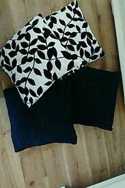 Lovely Black and black and cream cushions.