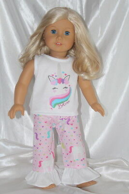 Dress Outfit fits 18 inch American Girl Doll Clothes Unicorn Hearts Lot B Heart Dress 18 Doll Clothes