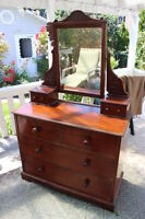 Old style ladies dresser and mirror for sale