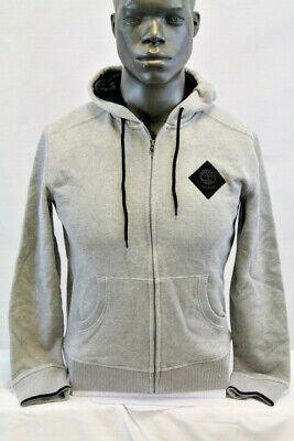 Timberland CLASSIC PATCH LOGO FULL ZIP FLEECE HOODY GRAY/BLACK TB0A1OHN-052