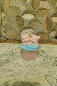 Soft cream childrens piggy Bank / pink