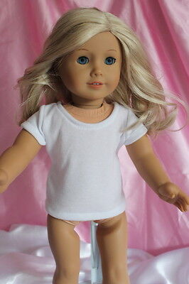 White Blank Plain T-Shirt fits 18inch American Girl Doll Clothes