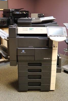 Konica Minolta Buzhub 421 Multi-functional Black White Copier Printer Scanner
