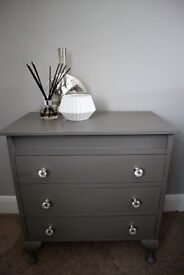 Vintage Chest of Drawers - Shabby Chic, Hand Painted