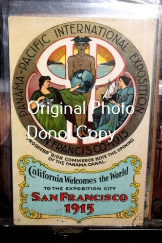 #D2508,Seldom Seen Pan Pacific Expo 1915 Expo Poster Cd