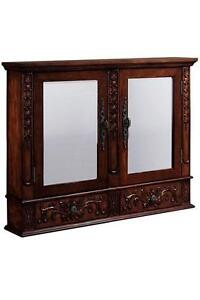 DOUBLE MIRRORED ANTIQUE LOOK WALL MEDICINE CABINET A Winslow Med
