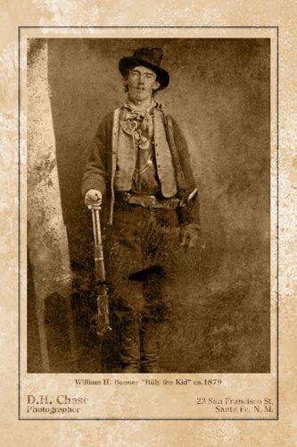 BILLY THE KID William H. Bonney Wild West Legend Cabinet Card CDV