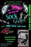 Sockhop featuring Jodie Leslie & Band! Prizes to be won!