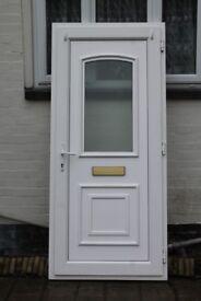 UPVC WHITE DOUBLE GLAZED DOOR 915mm x 2045mm/2075mm with door sill/