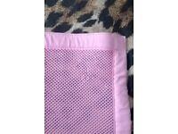 Breathable cot bumper