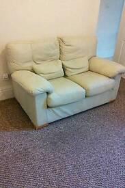 Leather Cream Sofa