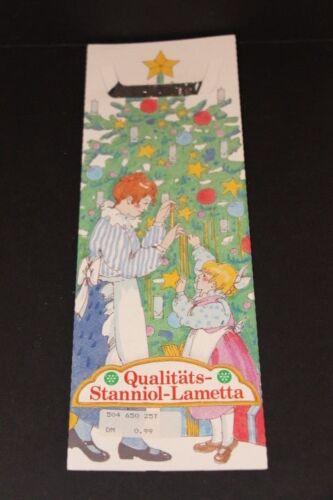 Vintage German Tinsel Qualitats Stanniol Lametta Christmas Silver NEW