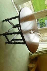Barley twist drop leaf table. Small