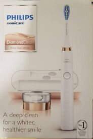 Philips Diamond Clean Electric Toothbrush white and gold- brand new in box