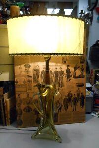 Grande Lampe Verre Soufflé Vintage