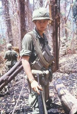 Vietnam War U.S. Army Rifleman Thousand Yard Stare High Gloss 8.5x11 Photo