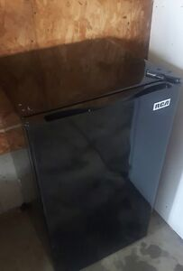 Black RCA mini fridge