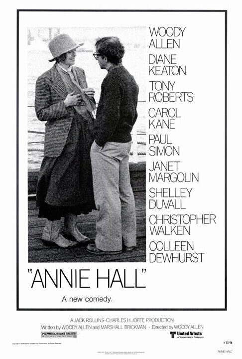 Annie Hall (1977) movie poster reproduction - single-sided - rolled