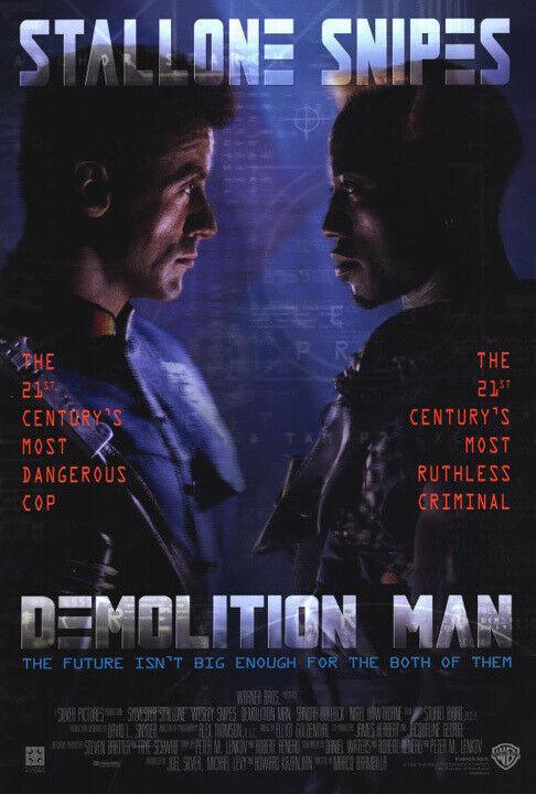 Demolition Man (1993) original movie poster - single-sided - rolled