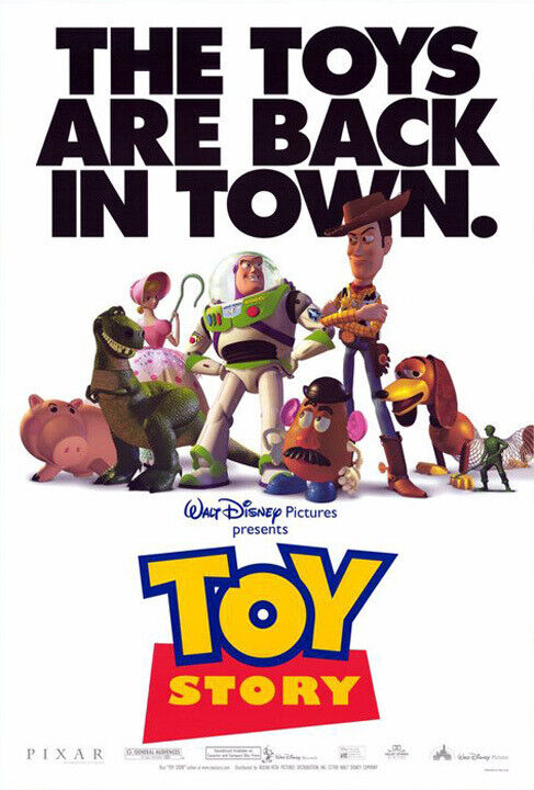 Toy Story (1995) Movie Poster Version A, Original, SS, Unused, NM, Rolled