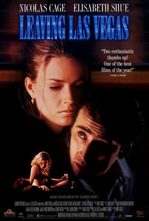 LEAVING LAS VEGAS (1995) ORIGINAL VIDEO MOVIE POSTER  -  ROLLED