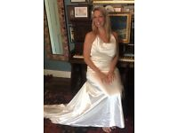 Silk wedding dress size 10