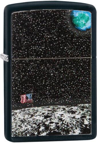 ZIPPO 50th Anniversary Moon Landing Design Black Matte Gift Boxed 29862