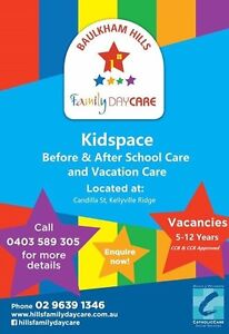 Kidspace Before & After School care and Vacation Care Kellyville Ridge Blacktown Area Preview