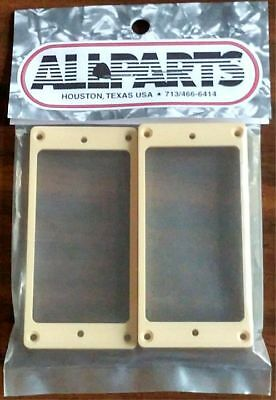 NEW - Humbucking Slanted Pickup Rings, Curved Bottom for Gibson Les Paul - Cream